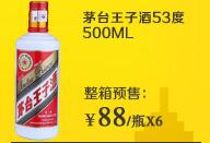 茅台王子酒53度(500ML)